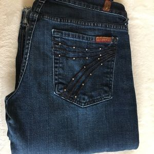 7 for all mankind flared jeans. Size 27
